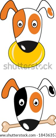 Creative  design of dog. Fully editable vector.
