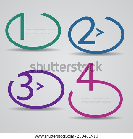 Creative Design template / number banners / procedure steps.. - stock vector