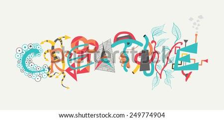 Creative design text Vector - stock vector