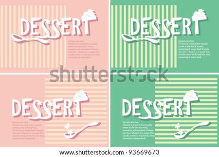 Creative dessert fonts business cards advertisement stock vector creative dessert fonts for business cards and advertisement reheart Gallery