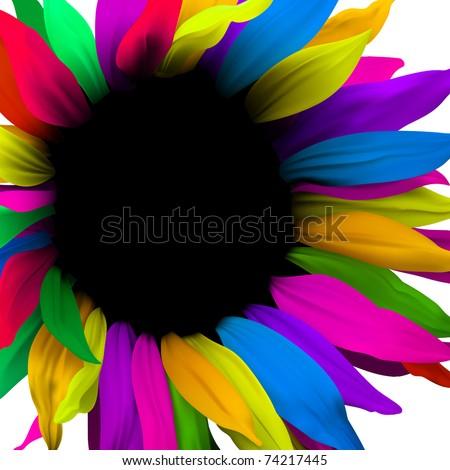 Creative digital flower. Brochure layout - stock vector