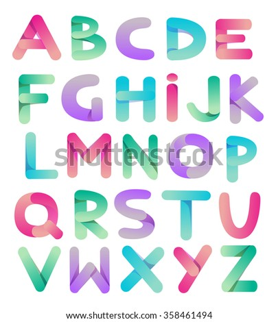 Creative  dimensional alphabet. Vector - stock vector