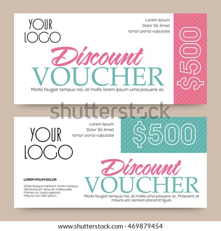 Discount Voucher 50 Off Creative Gift Vector 460345672 – Discount Coupons Templates