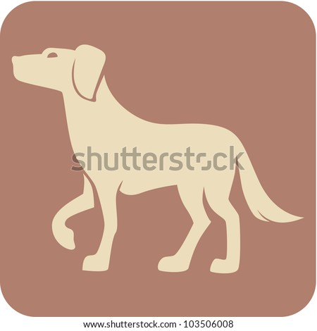 Creative Dog Icon - stock vector