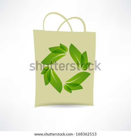 creative eco bag icon