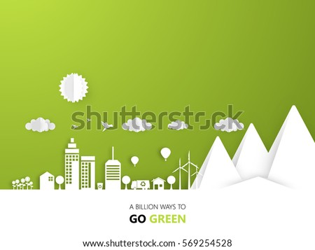 Creative Eco High Detailed Vector Design, Eco Friendly Lettering. Vector Eps 10.