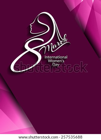 Creative elegant card design for Women' day. - stock vector