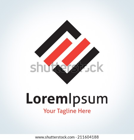 Creative engineering box tick sign vector logo, logotype icon - stock vector