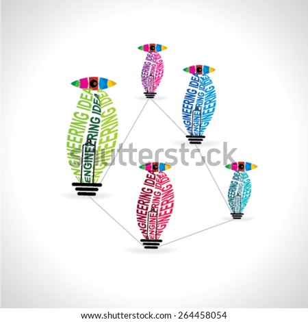 creative engineering idea bulb concept  - stock vector