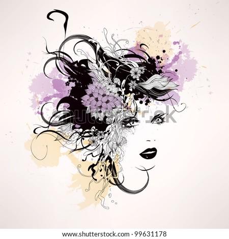 Creative fashion vector illustration - stock vector