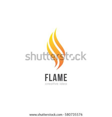 Creative Flame Concept Logo Design Template Stock Vector 580735576 ...
