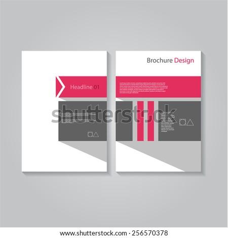 Creative flat brochure / flyer / banner design, eps10 Vector. - stock vector