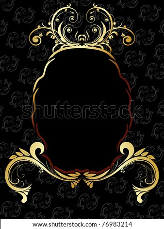 creative floral pattern background with isolated frame, illustration