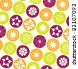 creative floral seamless pattern - stock vector