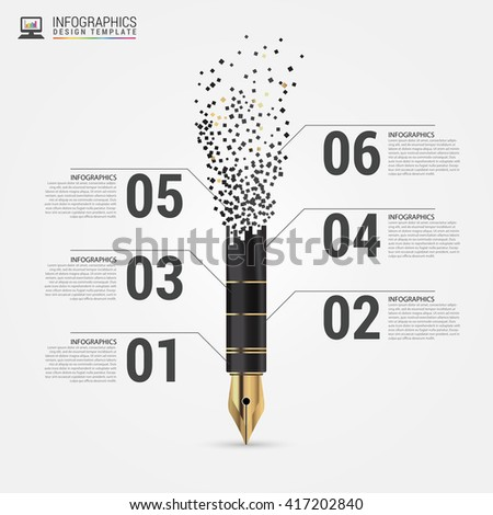 Creative Flow Chart Pen Vector Illustration Stock Vector 417202840