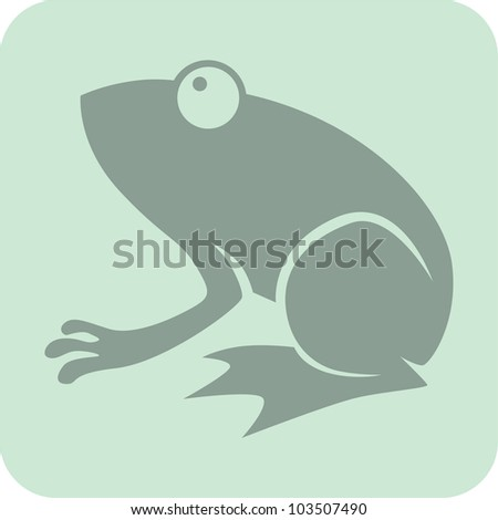 Creative Frog Icon - stock vector