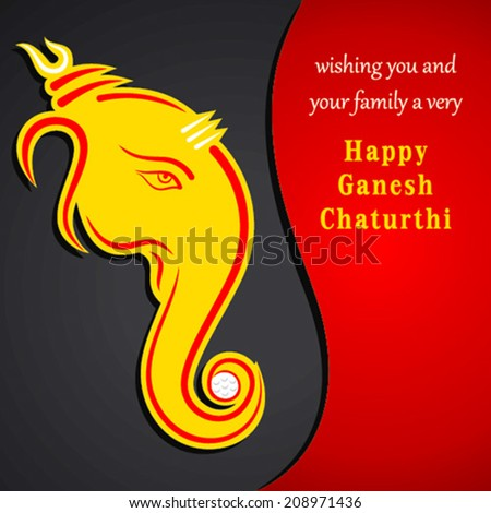 Creative ganesh chaturthi festival greeting card stock vector creative ganesh chaturthi festival greeting card background vector m4hsunfo