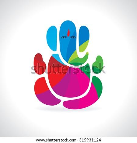 creative ganesha festival vector illustration  - stock vector