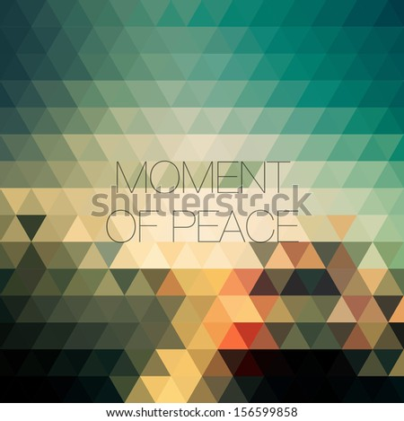 Creative geometric abstract triangles background - stock vector