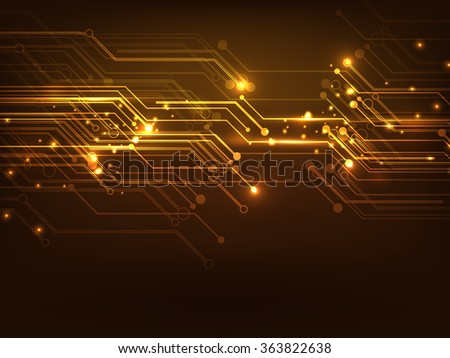 Creative glossy hi-tech abstract background.