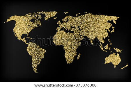 Creative gold map world web mobile stock vector 375376000 shutterstock creative gold map of the world for web and mobile applications illustration template design gumiabroncs Images