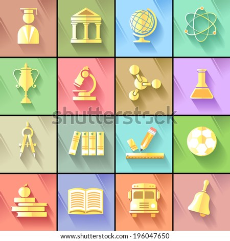 Creative golden icons of professionally made designs for user interface symbols  - stock vector