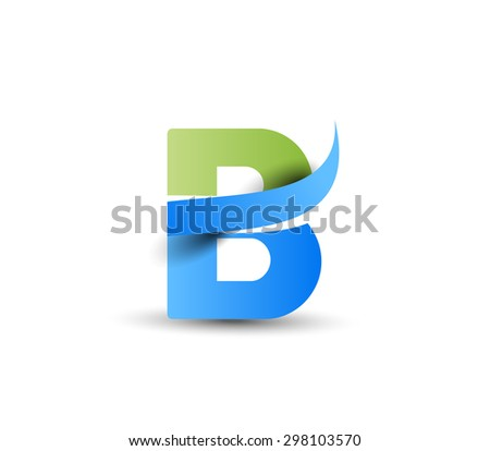 Creative Graphic Alphabet ( B ) Design Vector - stock vector