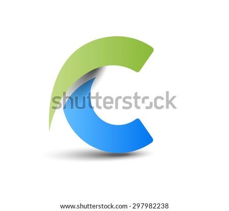 Creative Graphic Alphabet ( C ) Design Vector - stock vector