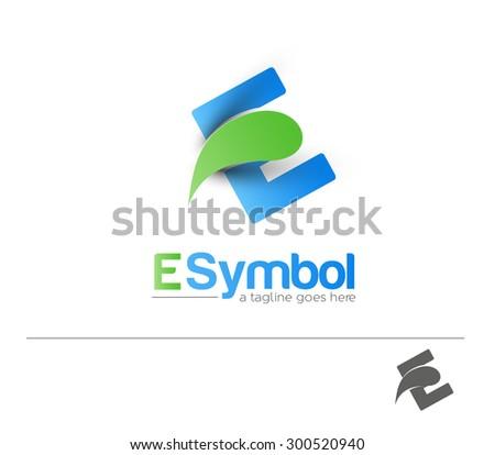 Creative Graphic Alphabet ( E ) Design Vector - stock vector