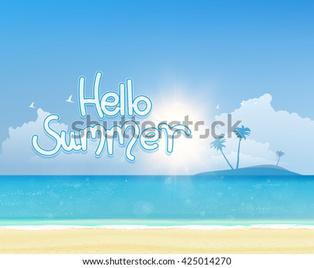 creative graphic message for summer design. - stock vector
