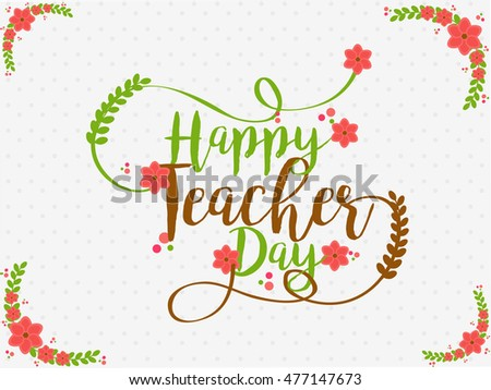 Creative greeting card teachers day celebration stock vector creative greeting card of teachers day celebration m4hsunfo Image collections