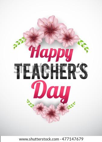 Creative greeting card teachers day celebration stock vector creative greeting card of teachers day celebration m4hsunfo