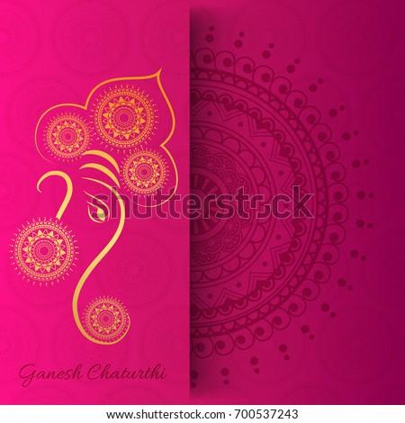 Creative greeting card poster banner hindu festival stock vector creative greeting cardposter or banner for hindu festival ganesh chaturthi celebration or shubh deepawali m4hsunfo