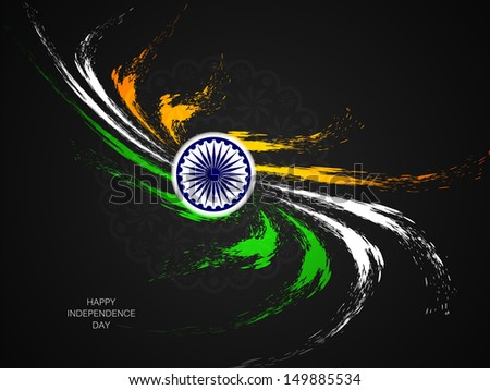 Creative grungy Indian flag design for Indian Republic day and Independence Day. Vector illustration - stock vector