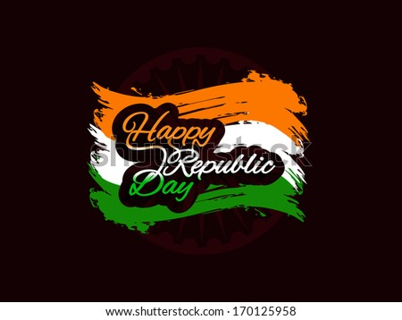 Creative grungy Indian flag design for Indian Republic day. Vector illustration - stock vector