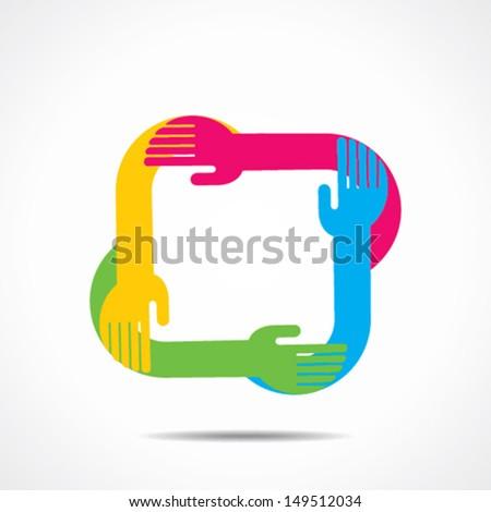 creative hand icon vector - stock vector