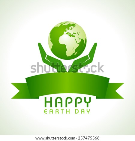 Creative Happy Earth Day Greeting stock vector - stock vector