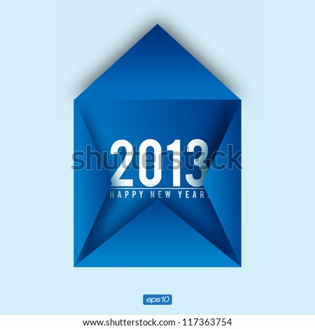 Creative 2013 Happy New Year Card | Editable Vector Design - stock vector