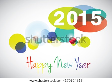 Creative happy new year 2015 design. - stock vector