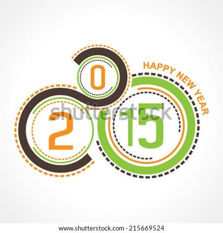 creative happy new year 2015 design stock vector - stock vector