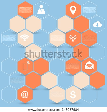 Creative Hexagon infographic, Vector Illustration EPS 10. - stock vector