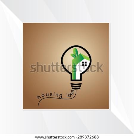creative home bulb idea vector illustration  - stock vector