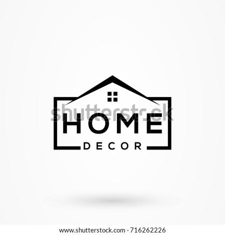 Creative Home Decor Logo Detailing Clean Stock Vector ...