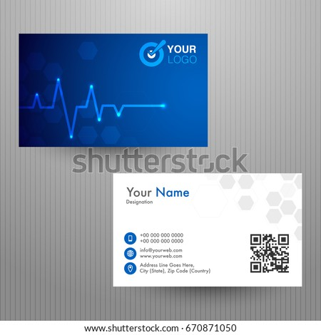 Creative horizontal business card name card stock vector royalty creative horizontal business card name card or visiting card template with front and back page colourmoves