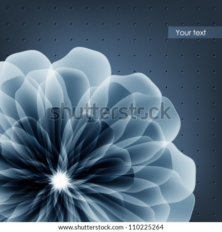 Creative idea for a business card, abstract flower - stock vector