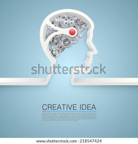Creative idea hand. vector illustration - stock vector