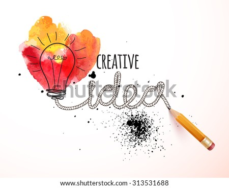 Creative idea loaded, vector concept for inspiration - stock vector