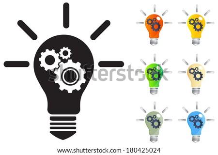 Creative Ideas at Work - Illustration - stock vector