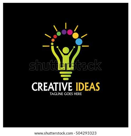 creative ideas logo design template bright future logo design concept vector illustration - Logo Designs Ideas