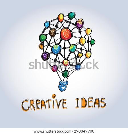 Creative ideas symbol illustration-vector - stock vector